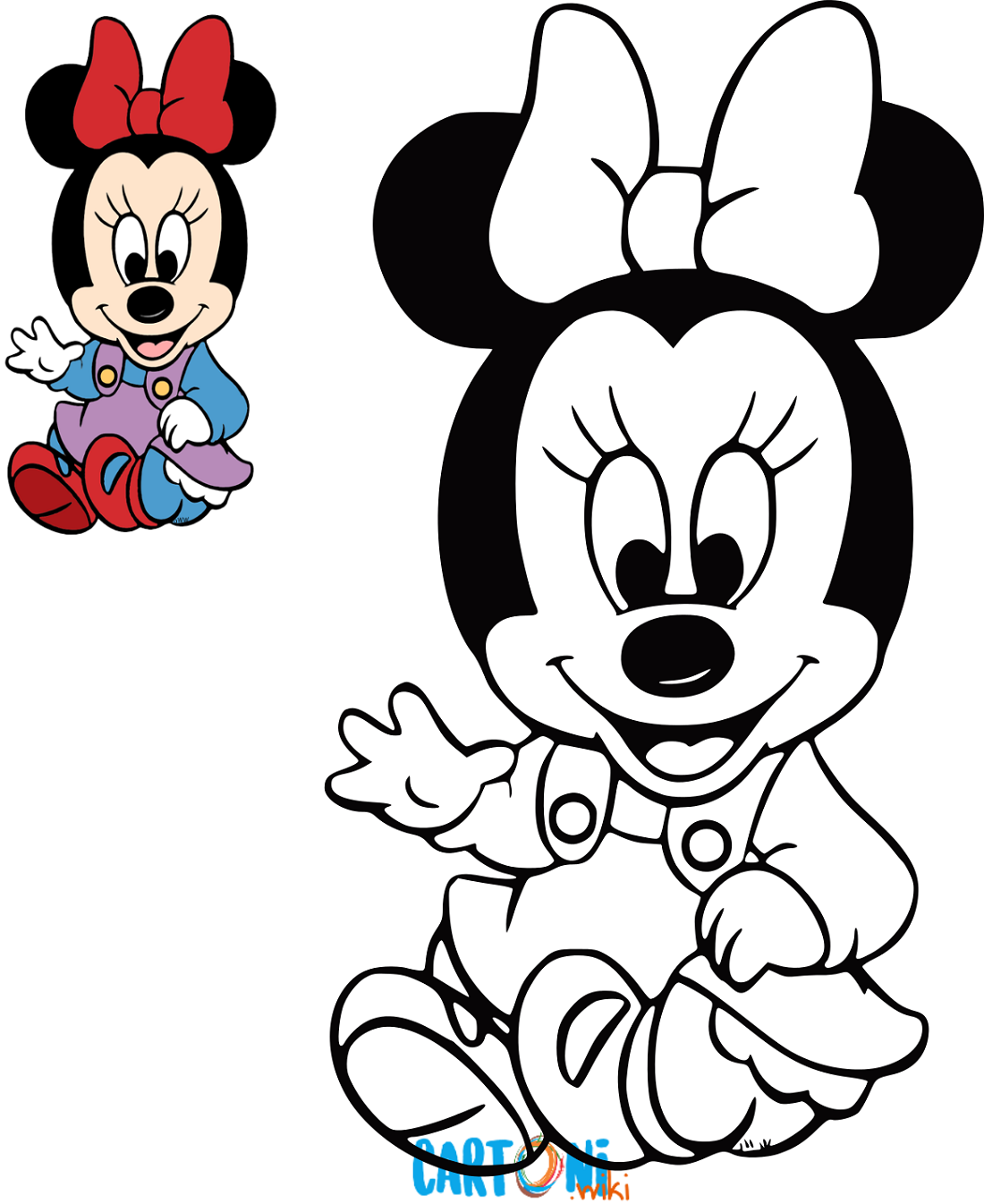 Cartoni Animati Baby Minnie Da Colorare E Stampare Per Far