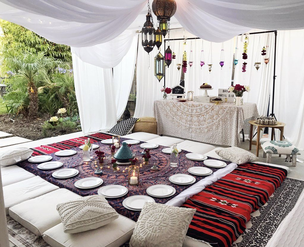 Dinner Party Set Up Eid Decoration Iftar Ramadan Decorations