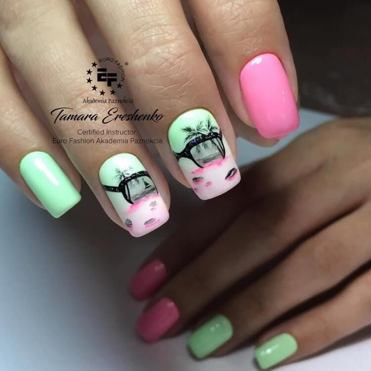 Nail Art 4876 With Images Beach Nails