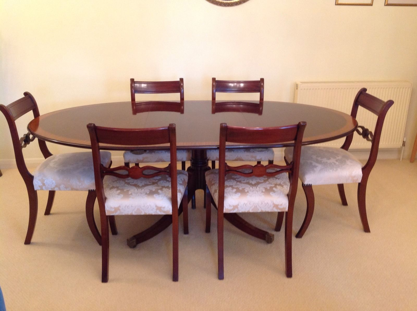 Brights Of Nettlebed Dining Table And Six Chairsexcellent Glamorous Dining Room Table And Chairs Ebay Decorating Design