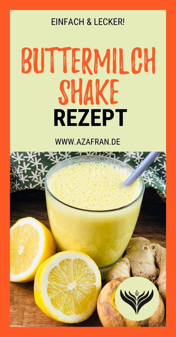 Photo of Buttermilch Shake mit Zitrone und Ingwer