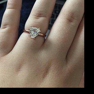 7fd7af3b3b9636 Eliza ring 2.4 carat cushion cut NEO moissanite engagement | Etsy Matching  Wedding Bands, Diamond