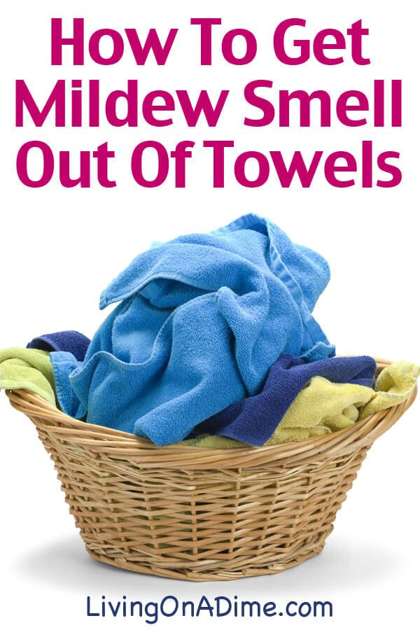 How To Get Musty Mildew Smell Out Of Towels   Washing ...
