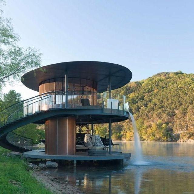Cool House At Lake Austin Beach And Lake Life Pinterest