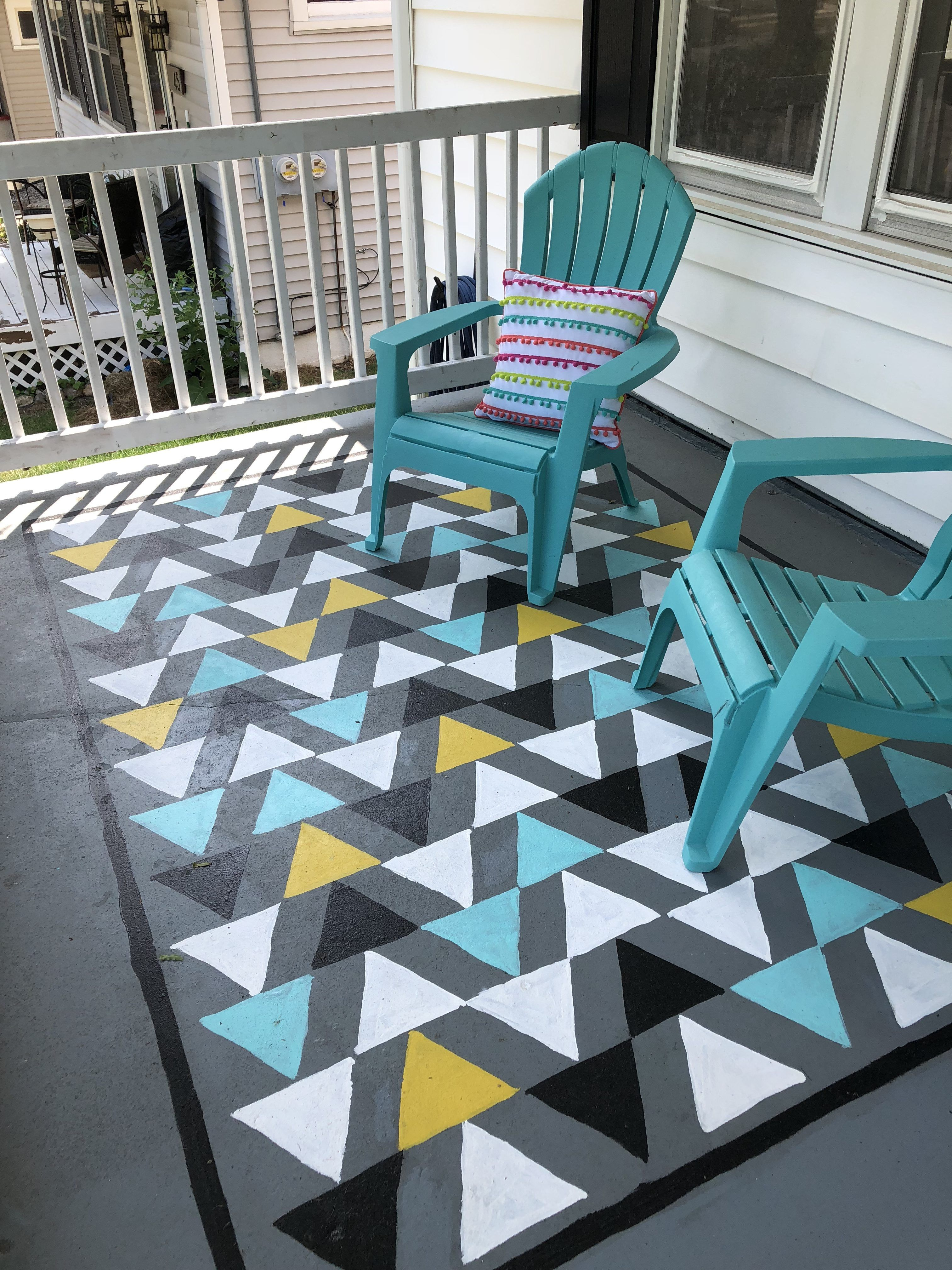 How To Stencil An Outdoor Rug Renovating Mapleson Manor Outdoor Rug Diy Painted Rug Outdoor Rugs