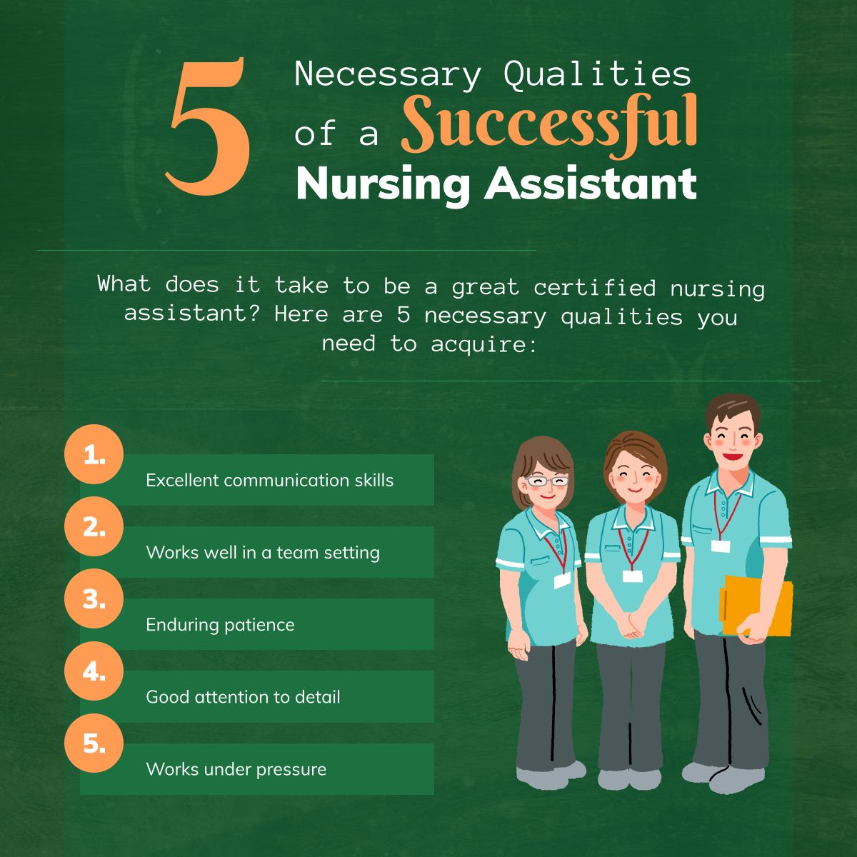 5 Necessary Qualities Of A Successful Nursing Assistant