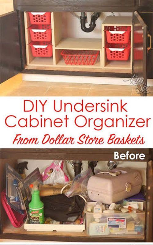 DIY Pull Out Under Sink Cabinet Organizer