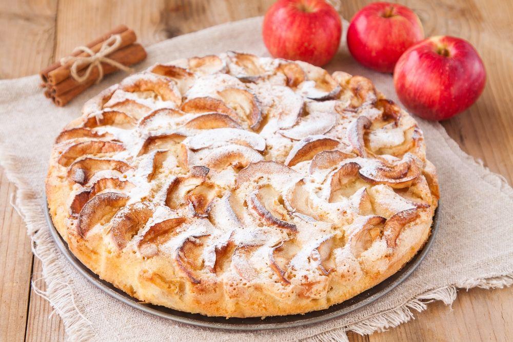 Царский яблочный пирог рецепт пошагово в духовке