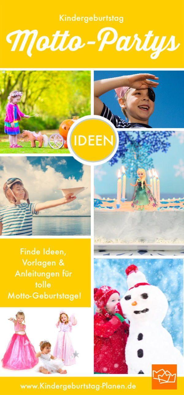 Mottos Ideen für den Kindergeburtstag: Hier findest Du Tipps, Druckvorlagen, Spiele, Anlei