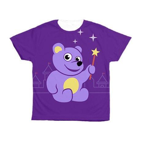 Cute Purple Teddy Bear Fairy Kid's All Over Print Tee #kids #purple #clothing #cafepress. By Boriana.