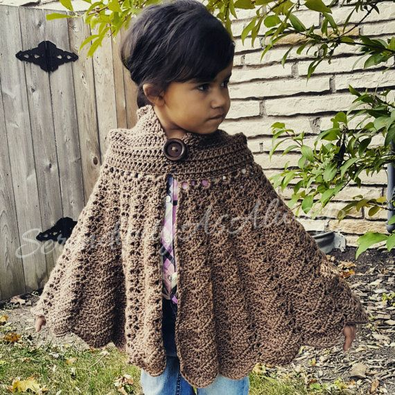 Crochet PATTERN | Hooded Cape | Child to Adult Size | PDF Digital ...