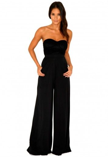 10c028a28467 Naiara Pallazo Flare Jumpsuit With Lace Bustier - jumpsuit - missguided