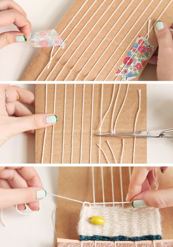 You don't need a professional loom to learn the basics of weaving. Grab some scissors, yarn, and cardboard and let's begin!