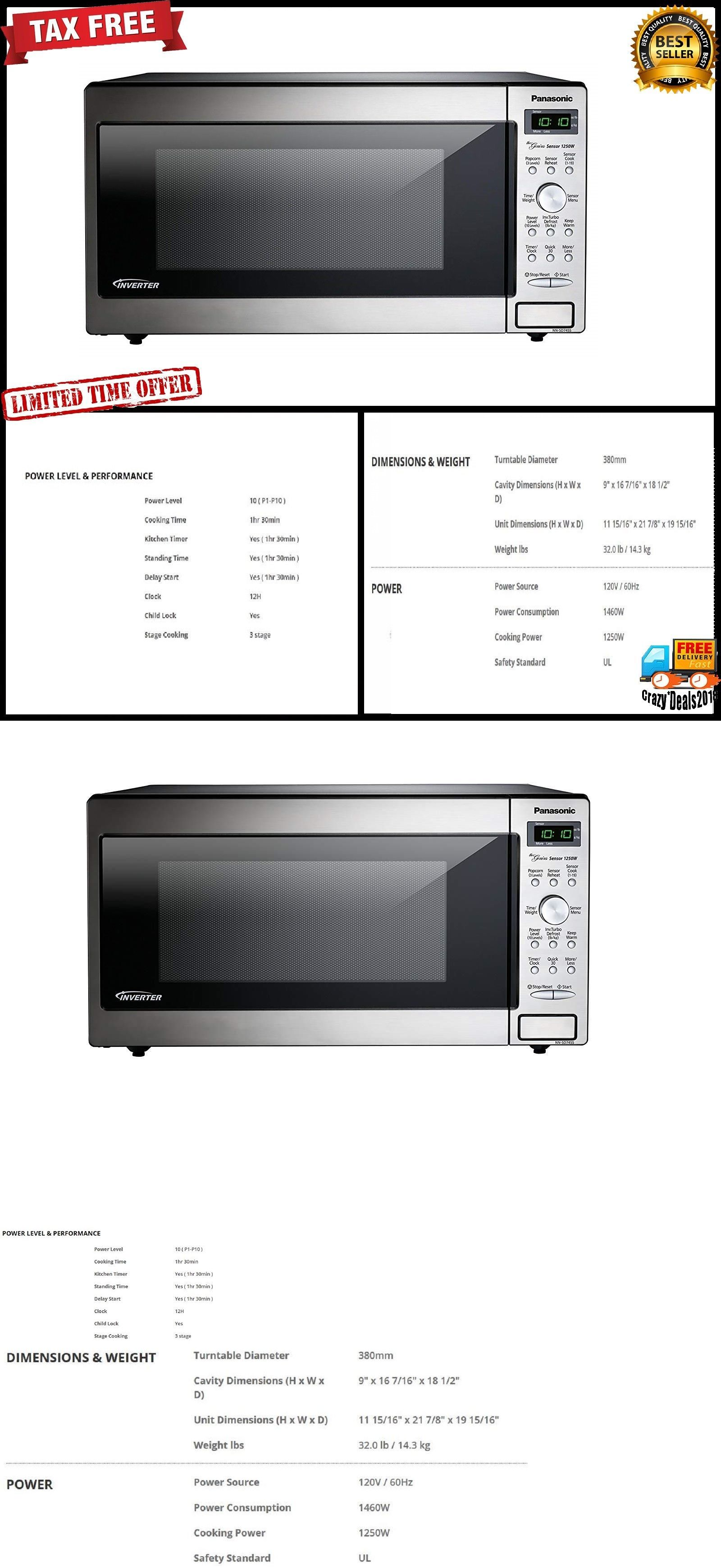 Microwave Ovens 150140 Panasonic Built In Microwave Oven Food Cooking 1250 Watt Kitchen Led Display Buy It Now Only 149 Built In Microwave Built In Microwave Oven Microwave Oven