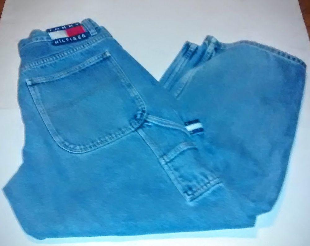 8ec01bfa RARE Vintage 90s Tommy Hilfiger Carpenter Painter Retro Blue Jeans Hip Hop  33/30