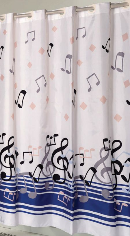 Music Note Shower Curtain With Images Printed Shower Curtain