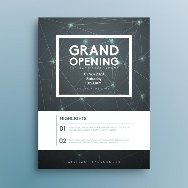Download Business Brochure Template For Free Business Invitation Corporate Invitation Email Invitation Design