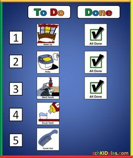 the to do list helps to guide children through a sequenced task list or routine using a numbered sequence and a done column the numbers on the left help