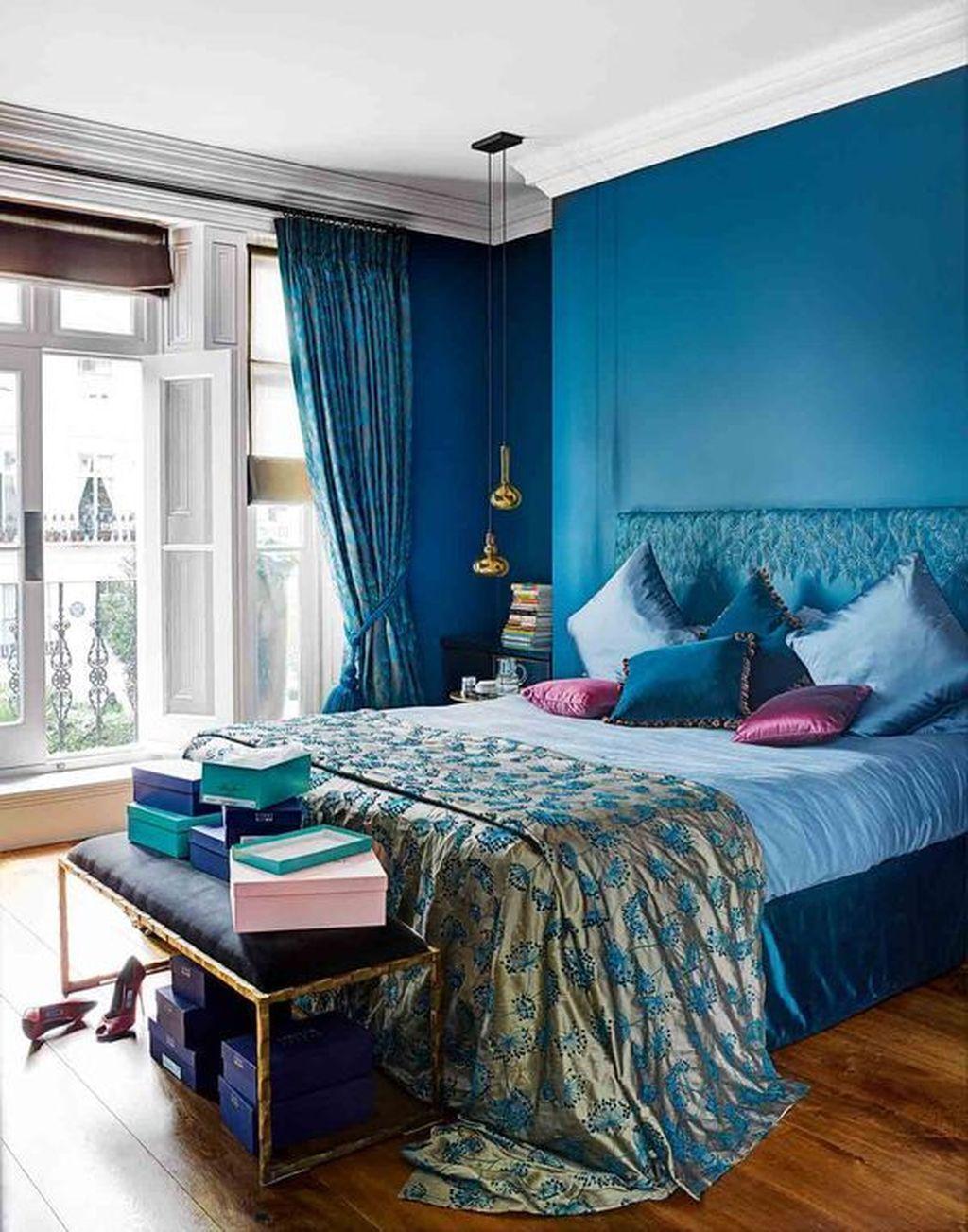46 Elegant Blue Themed Bedroom Ideas Bedroom Design