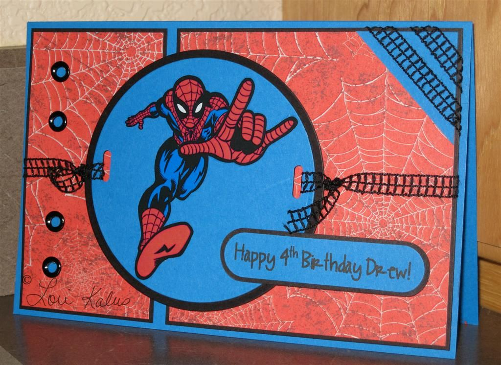 My Triplets Turned 4 Kids Birthday Cards Spiderman Cards Happy Birthday Cards