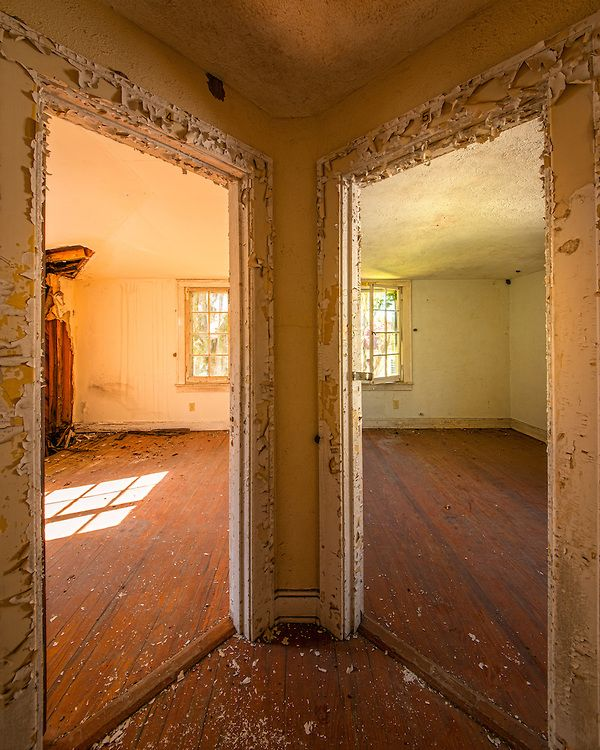 A Pair Of Doors In An Old Abandoned House On Sapelo Island