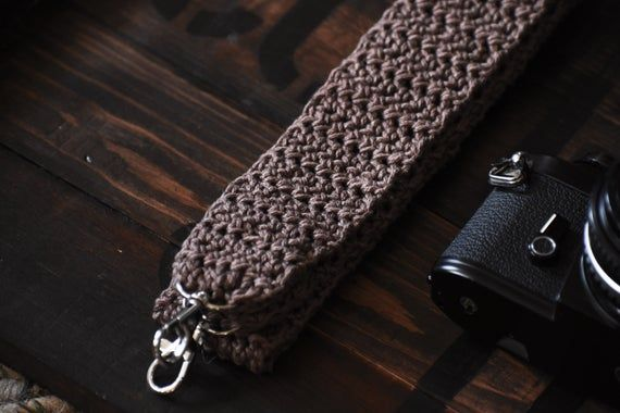 Crocheted Camera Strap, Camera Straps, Handmade, Camera Accessories, Hay Creek Farm #crochetcamera