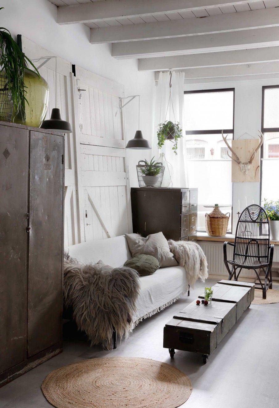 Industrial Living Room Design Entrancing Vintage Industrial Living Room  Looking For Shelter  Pinterest Design Decoration