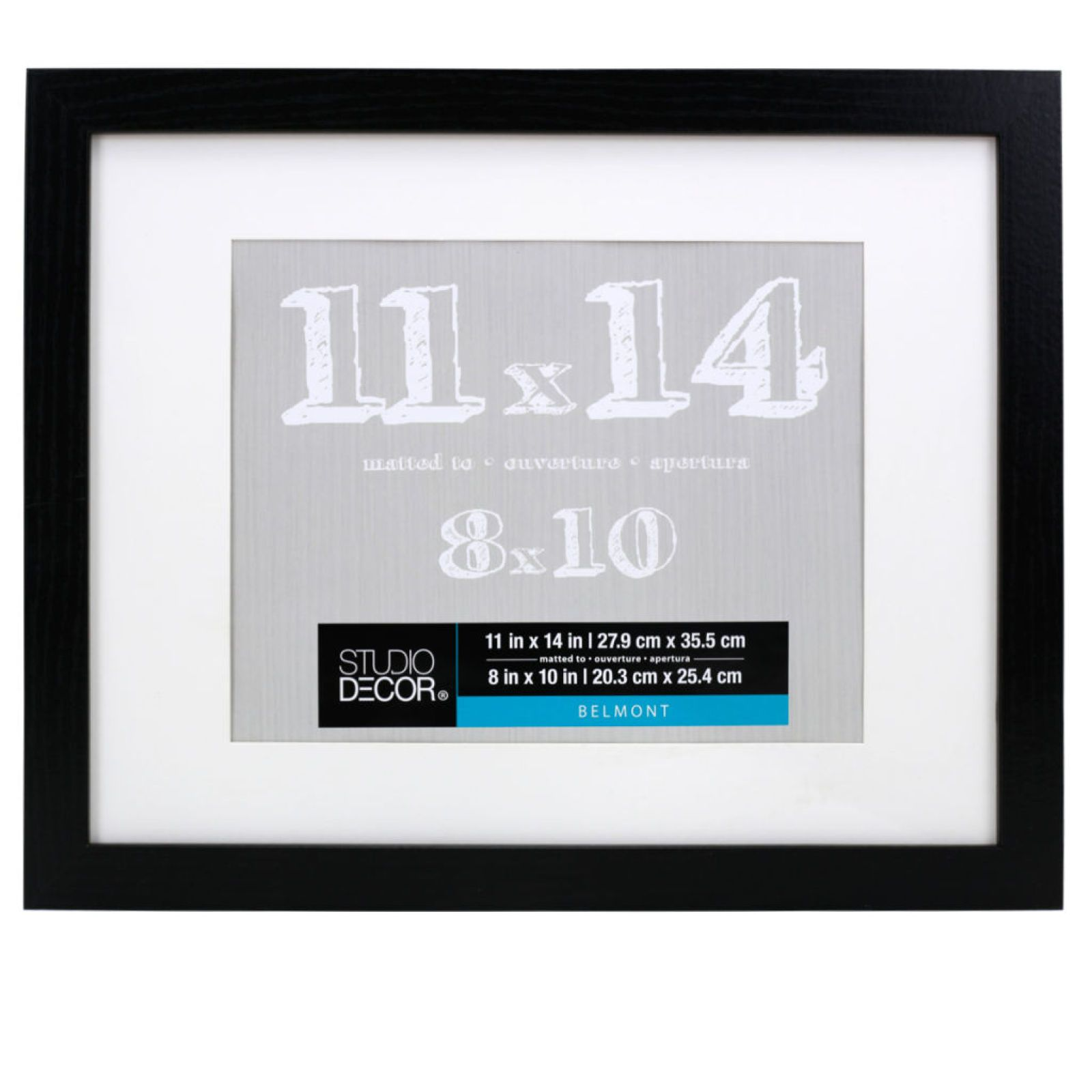 Black Belmont Frame With Mat By Studio Décor® Frame