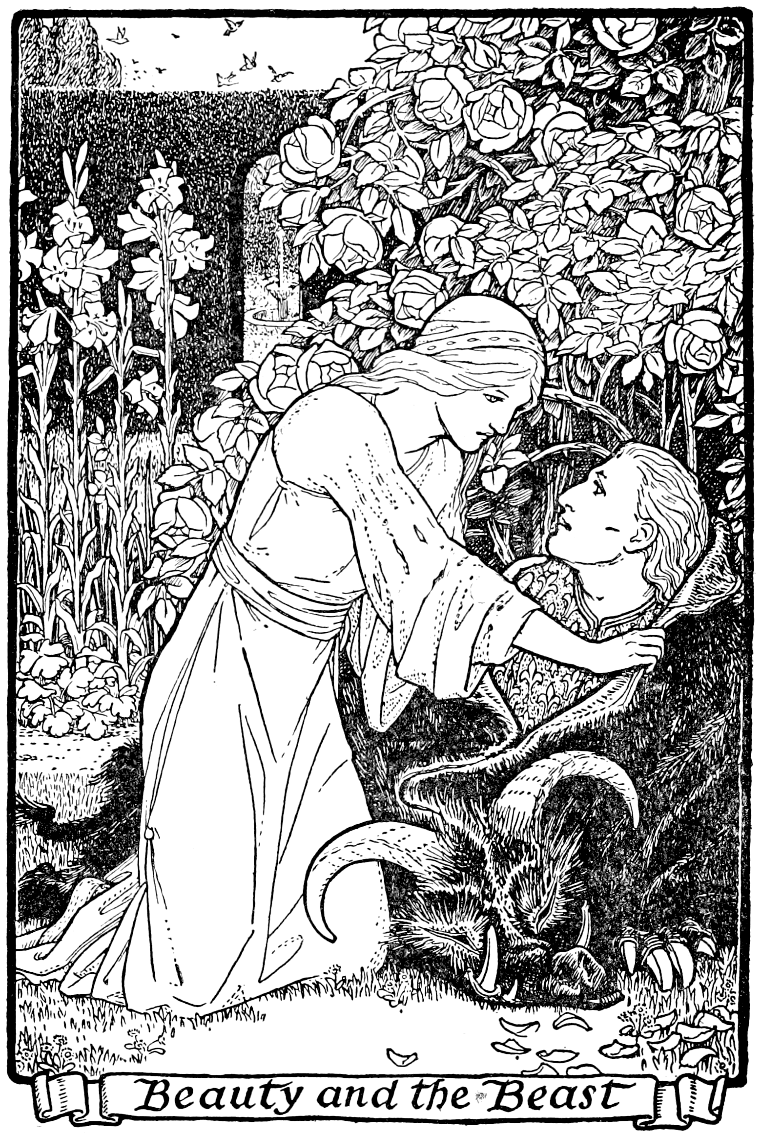Illustration from a book of fairy tales from Europe, translated into english  Date1916
