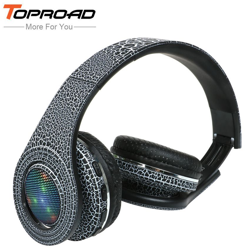 Toproad Casque Auriculares Bluetooth Headset Glowing Led Big