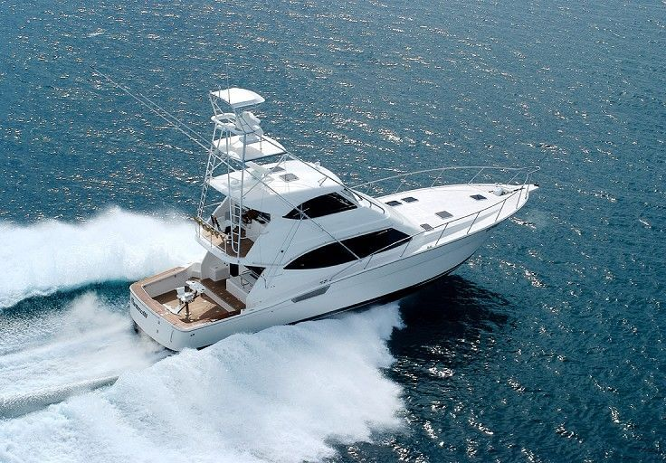 Sport Fishing Boat Motor Yacht With Enclosed Flybridge