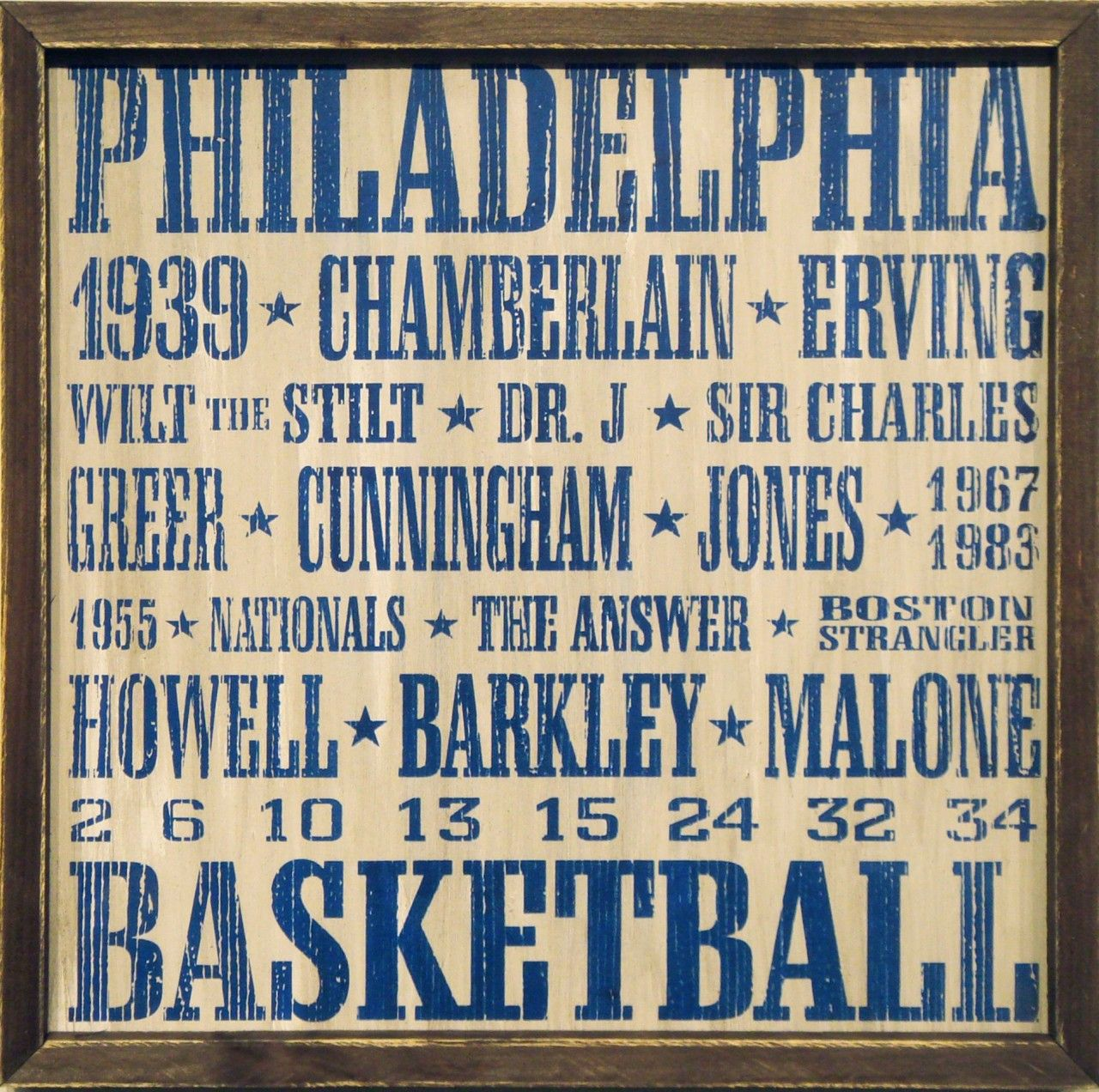 Country Marketplace - Vintage Philadelphia #76ers Wood Sign 18\