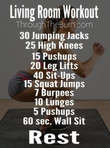 Living Room Workout Plan - Just because you can\'t leave the house ...