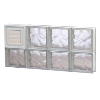 Clearly Secure 31 In X 13 5 In X 3 125 In Frameless Wave Pattern Glass Block Window With Dryer Vent 3214sdcdv The Home Depot Glass Block Windows Glass Blocks Pattern Glass