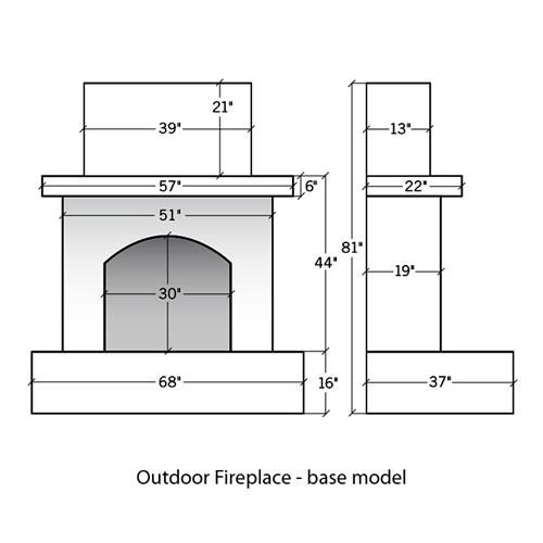 Outdoor Gas Burning Fireplace Available From Barn Pros Fireplace Dimensions Outdoor Fireplace Plans Outdoor Fireplace