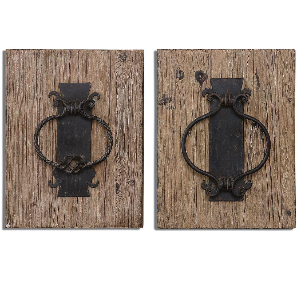 Uttermost rustic door knockers wall art s products pinterest