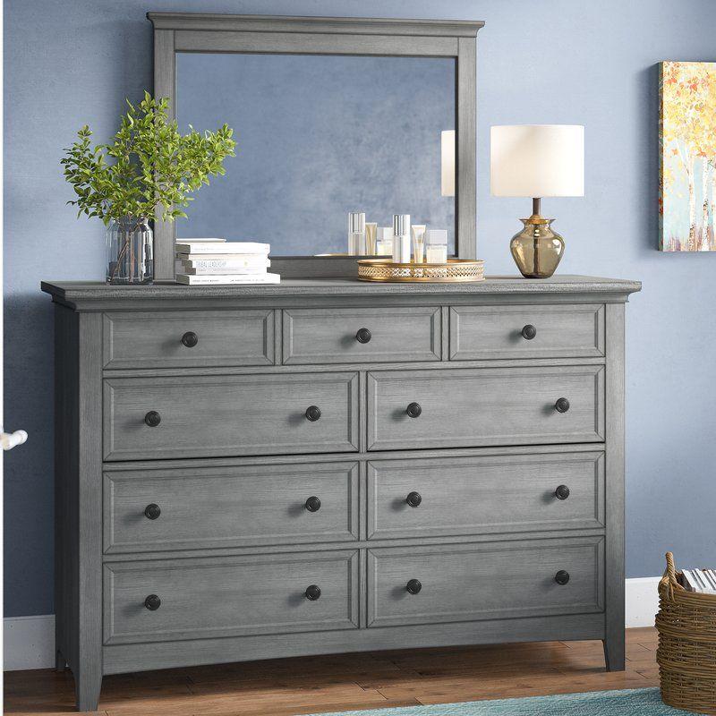 Best Woodside 9 Drawer Dresser With Mirror Dresser With 400 x 300