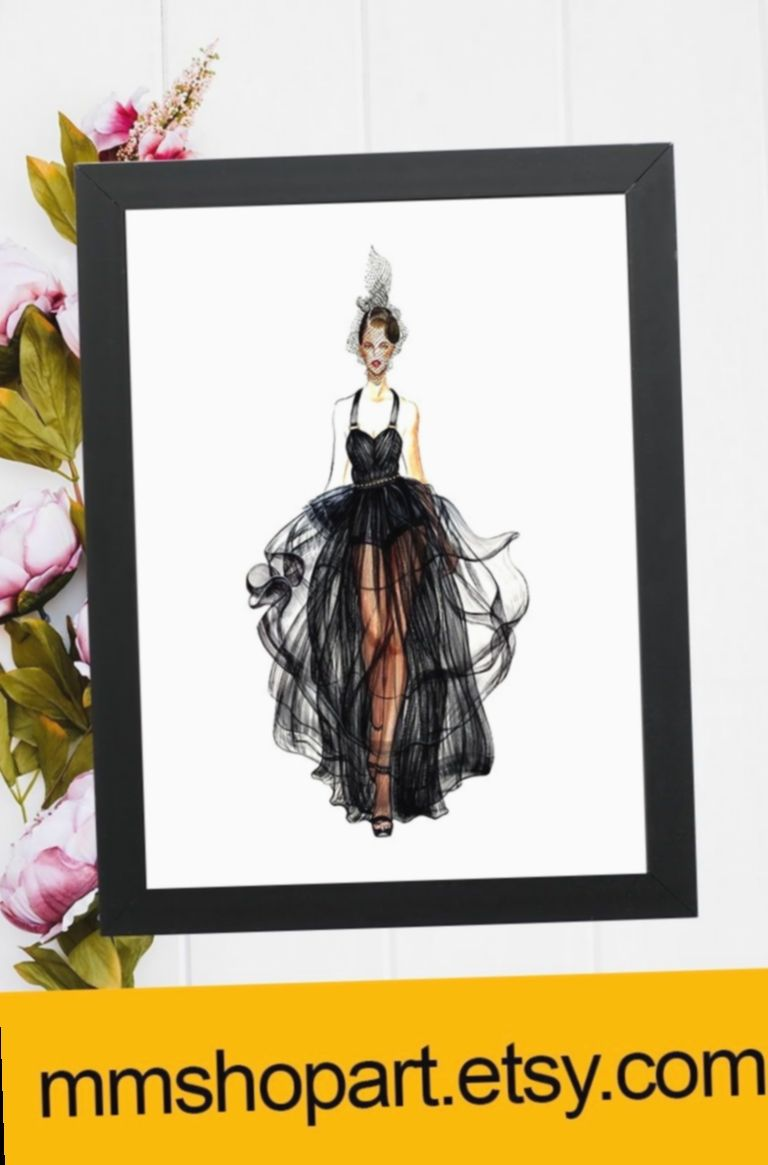 ✔ Fashion Model Illustration Style #photography #style #fitness