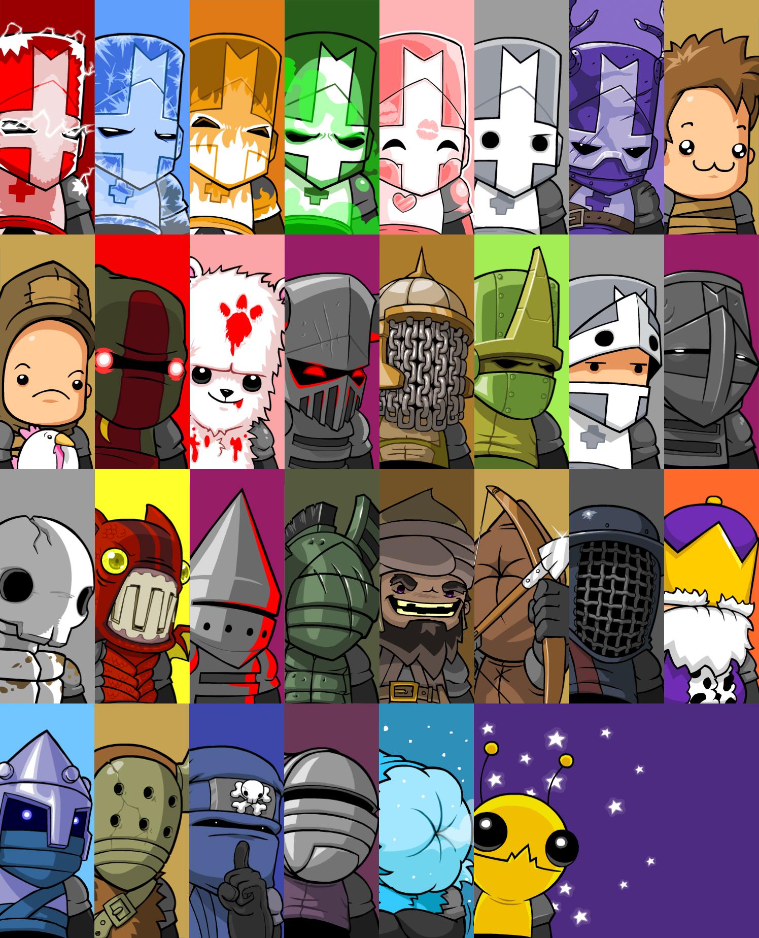 Castle Crashers Portraits Castle Crashers Character Design Game Concept Art