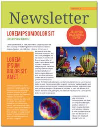 newsletter examples for students
