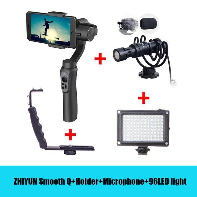 Light Stand Gimbal: Camera Grip L Bracket With 2 Hot Shoe Mounts For Zhiyun
