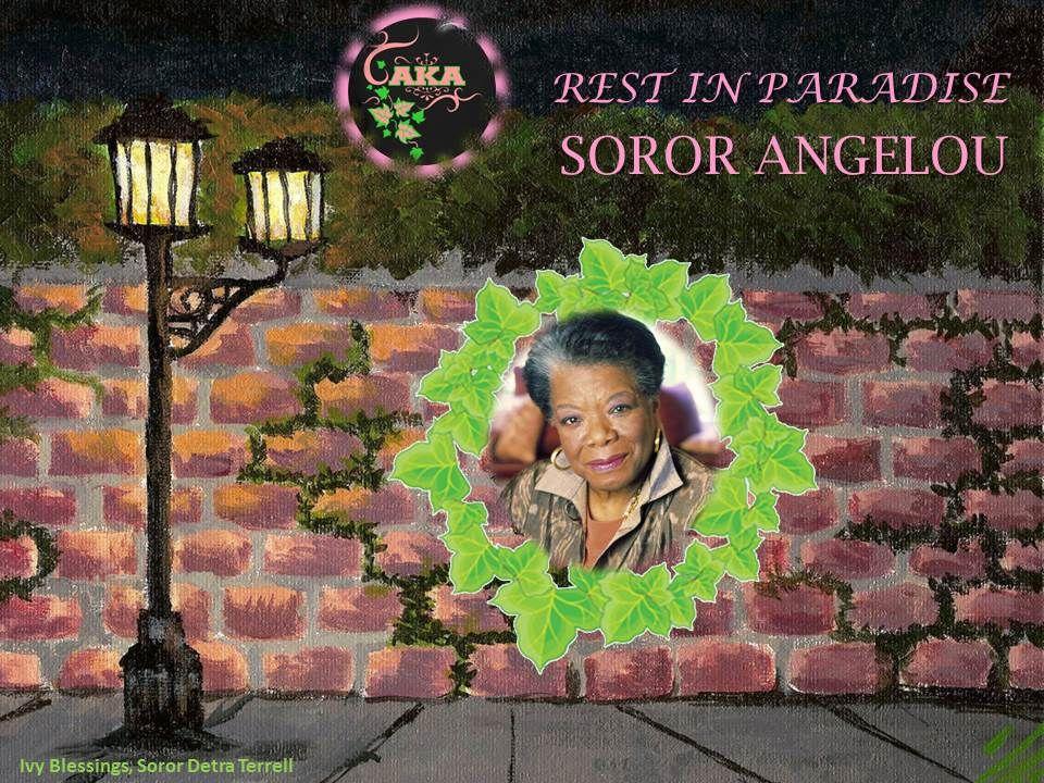 What sorority did maya angelou belong to