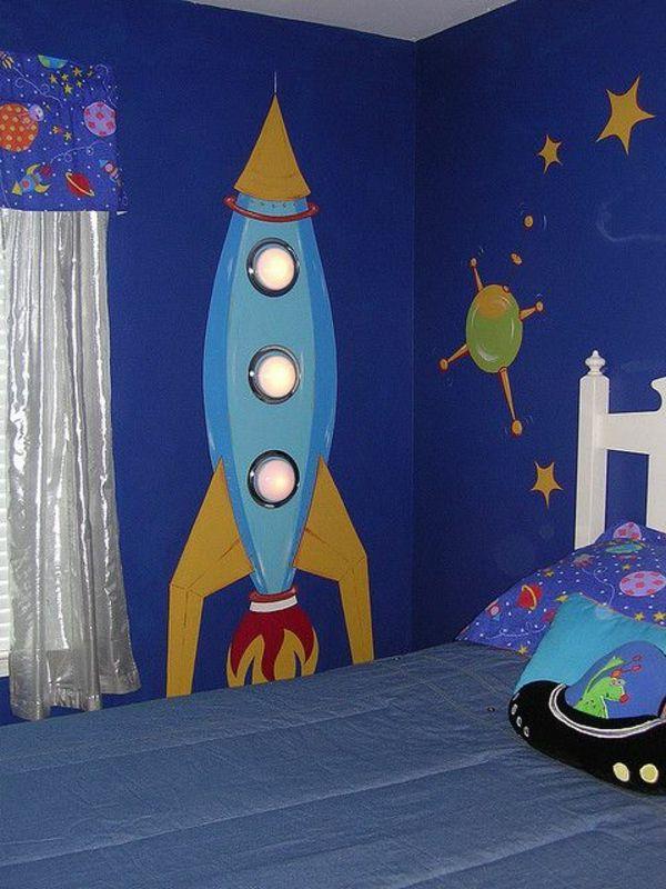 Wandmalerei im Kinderzimmer Ein entzückendes Ambiente