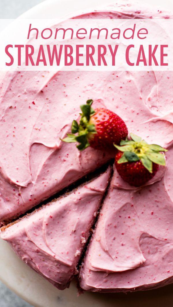 Homemade Strawberry Cake   Sally's Baking Addiction