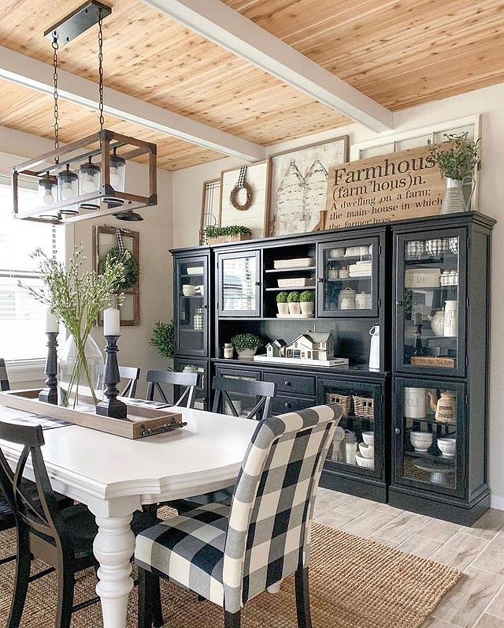 30+ Stylish Farmhouse Dining Room Decor Ideas COODECOR