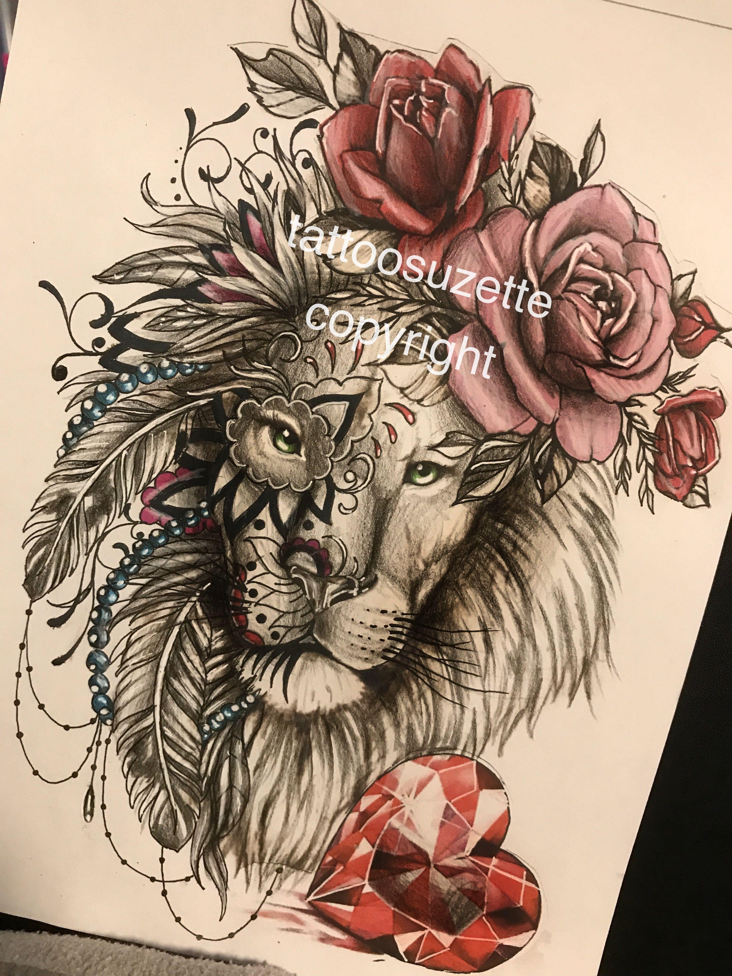 lion tattoo design mandala tattoos pinterest lion tattoo design tattoo designs and lions. Black Bedroom Furniture Sets. Home Design Ideas