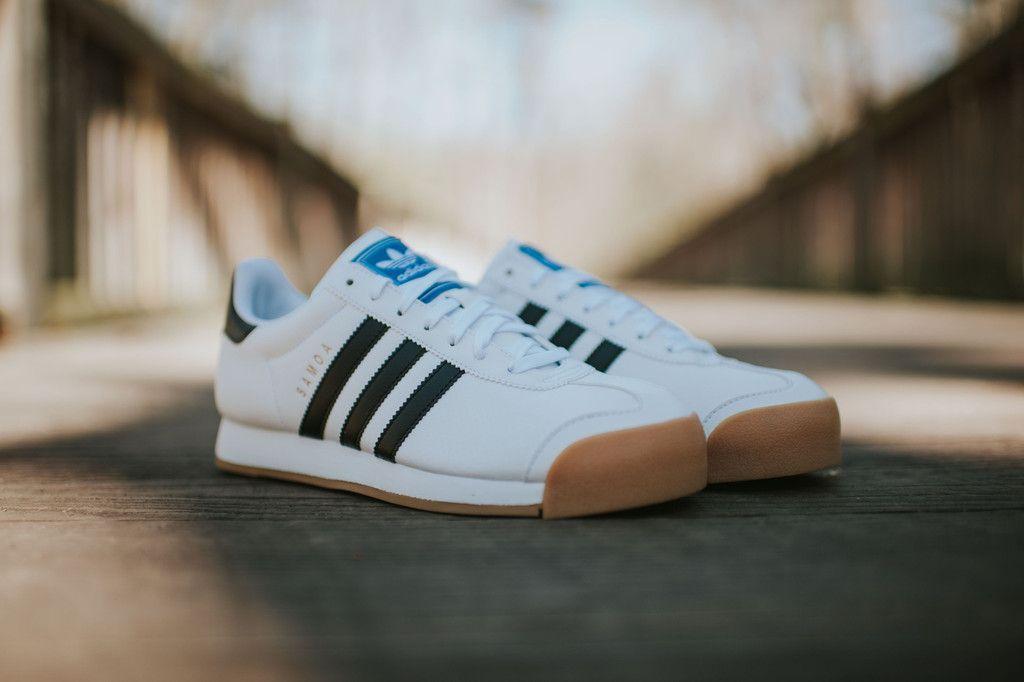 adidas samoa white with black stripes