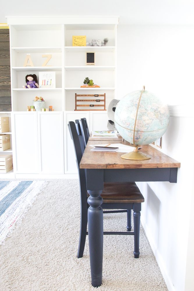 Superior Repurposed Kitchen Table Turned Desks | Blesserhouse.com   How To Use A  Repurposed Kitchen