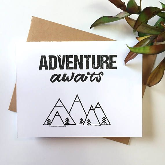 Adventure Awaits - Graduation Card - Grad - Congrats Grad - farewell card template