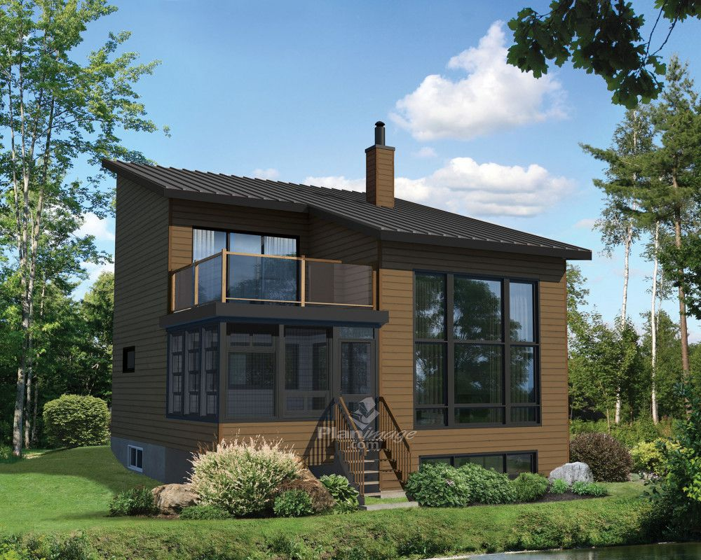 Who Wouldn T Dream About A Safe Haven Like This One This Lovely Two Storey Cottage Contemporary In Style W Cottage Plan House Plans Contemporary Style Homes